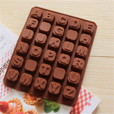 Bakeware Silicone English Alphabet Shaped Baking Molds For Chocolate
