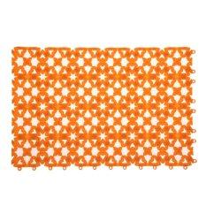 Bathroom Shower Room Floor Mat Rug Anti Slip Plastic Multicolor (Orange) (Intl)