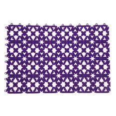 Bathroom Shower Room Floor Mat Rug Anti Slip Plastic Multicolor (Purple) (Intl)