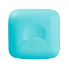 Bathroom Soap Box Soap Dishes Lid with Lock Small Size Blue (S) (Intl)