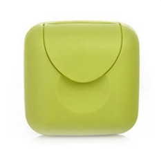 Bathroom Soap Box Soap Dishes Lid with Lock Small Size Green (S) (Intl)