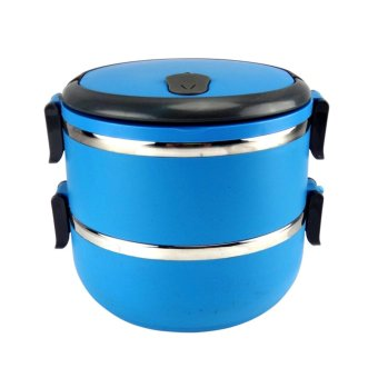 Beau Lunch Box Stainless Steel Rantang 2 Susun