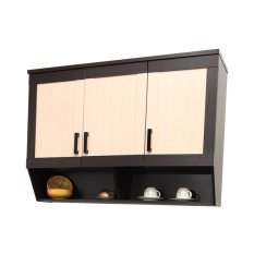 Best Toppan Kitchen Dapur Set Atas 3 Pintu Urbana Series - Krem