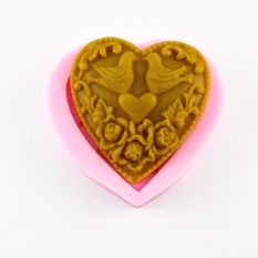 Birds Heart Silicone Non-Stick Press Mold Cake Decoration Chocolate Cookie Fondant Cake 3D Food Grade Silicone Mould