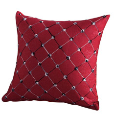 Bluelans Home Sofa Bed Decor Plaids Throw Pillow Case Square Cushion Cover Red (Intl)