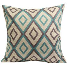 Bluelans Vintage Flower Cotton Linen Throw Pillow Case Cushion Cover Home Decor Multicolor (Intl)