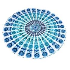 BolehDeals Indian Mandala Tapestry Hippie Wall Hanging Blue Bohemian Bedspread Dorm - INTL