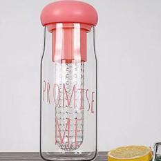 Botol Minuman Botol BPA Free Botol Infus Botol Korea Botol Plastik Bening Botol Olahraga My Bottle Promise Me [Merah Muda]