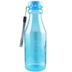 BPA FREE Soft Soda Drink Outdoor Sport Bottle 550ML - Transparant BiruMuda