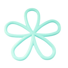 Buytra Cute Table Mat Plum Flower Shape Silicon Blue