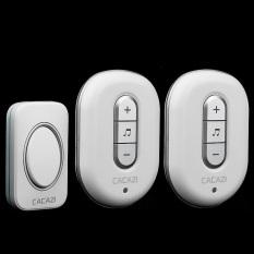C-9918-2 Silver, 1 Emitter + 2 Receivers Waterproof 280M Long-Range Wireless DoorBell, Wireless Door Chime, Wireless Bell