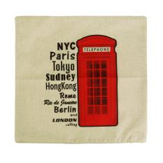 Generic Cartoon Telephone Booth Cotton Linen Throw Pillow Case Cushion Cover Decor