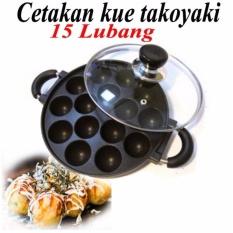Cetakan takoyaki cetakan kue cubit anti lengket - 15 lubang