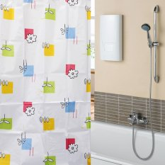 Channy New Colorful Flowers Waterproof Bathroom Bath Shower Curtain Polyester 67x70inch