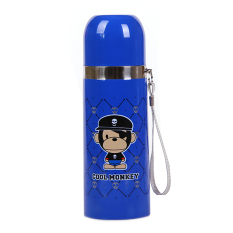 CHENFEI 350ML Cartoon Cool Monkey Insulation Cup Creative Stainless Steel Cups Cups Student Portable Cups Blue - Intl