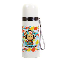 CHENFEI 350ML Cartoon Cool Monkey Insulation Cup Creative Stainless Steel Cups Cups Student Portable Cups White - Intl