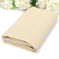 Clothes Vintage Daisy Style Cotton Linen Fabric Patchwork Sewing Handmade DIY Yellow - Intl