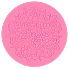 Cocotina Pink Kitchen Bakery Silicone Lace Cake Decorating Fondant Mold Sugar Craft Baking Mould DIY Tool