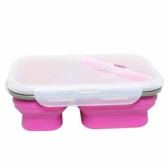Collapsible Silicone Lunch Box / Foldable Lunch Box / Tempat MakanLipat / Kotak Makan Lipat