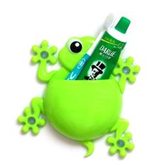 Creative Cartoon Gecko Toothbrush Holder Green
