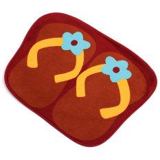 Cute Anti-slip Flip Flops Absorbent Entrance Floor Door Bathroom Mats Carpet Rug Coffee (Intl)