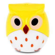 Cute Novelty Cool Funny Cartoon Owl Shape Two-Hole Pencil Sharpener School Gift For Kids Teens (YELLOW)