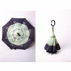 DapurBunda PYG Payung kazbrella Motif - Payung Terbalik Gagang C Reverse Umbrella - JASMINE