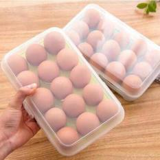DapurBunda RTR Kotak Telur isi 15 Grid Egg Box Egg Case Tempat Penyimpanan .