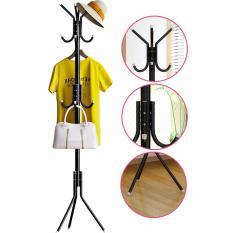 DapurBunda Stand Hanger / Gantungan Tiang Berdiri / Hanger Gantungan Baju Tas Berdiri - HITAM