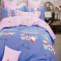 Depo Sprei Dan Bed Cover Bolly Cake Sateen Jepang Single Size