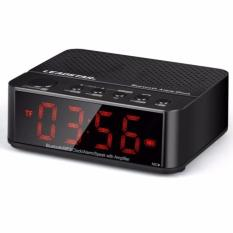 Desktop Bluetooth Speaker Alarm Clock KD-66 - Hitam