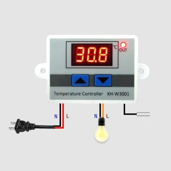 Digital Temperature Controller 10 220 V Thermostat Control Switch multifungsi