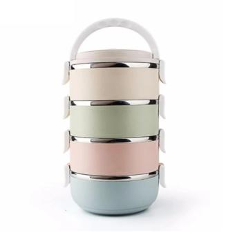 Dinemate Eco Lunch Box Stainless Steel Rantang 4 Susun - Glossy