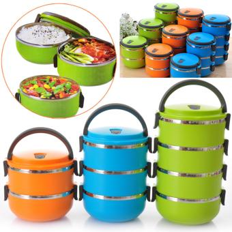 Dinemate Eco Lunch Box Stainless Steel Rantang 4 Susun - Orange