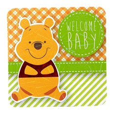 Disney Winnie The Pooh Welcome Baby Mini Card