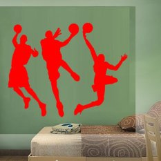 DIY Basketball Player Wall Sticker Removable Home Art Decor Waterproof Wall Decal PVC Mural-Black80*135cm
