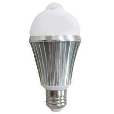 E2.7W PIR Motion Sensor Security Flood Projection Bulb Light Lamp Floodlight Bulb Pure White Light