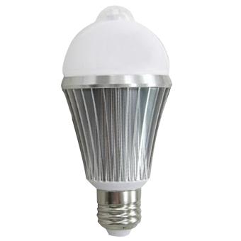 E2.7W PIR Motion Sensor Security Flood Projection Bulb Light Lamp Floodlight Bulb Pure White Light