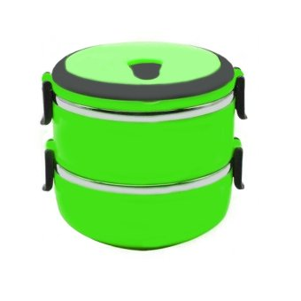 Eco Lunch Box Stainless Steel Rantang 2 Susun - Hijau