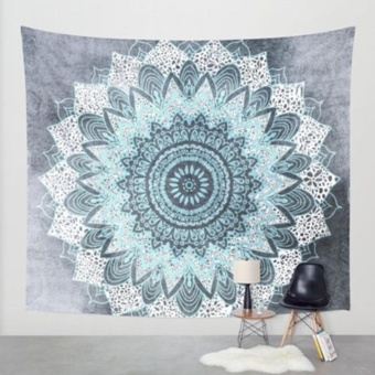 Elife 150cm*130cm Bohemia Mandala Large Printed Tapestry Wall Hanging Bedspread Beach Towel Carpet ( #6 ) - intl