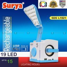 Emergency Lampu Meja Belajar LED Surya SDS-L1921 White Spiker Mini