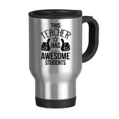 English Alphabet Thumbs To Praise Teacher And Student Present Pattern Stainless Steel Travel Mug Travel Mugs Gifts With Handles 22oz - Intl