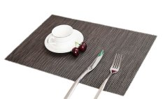 Eozy Vogue Cup Coasters Table Mats 45*30 PVC Placemats Insulation Pads Set Of 4 (Grey) (Intl)