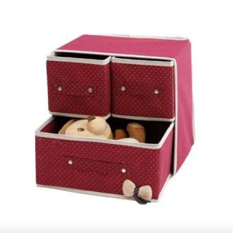 EZY 2-in-1 Kotak Penyimpanan Multifungsi (Merah Maroon)