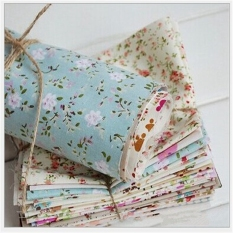 Fabric Squares Cotton Patchwork Quilting Floral Polycotton Craft Remnants - Intl