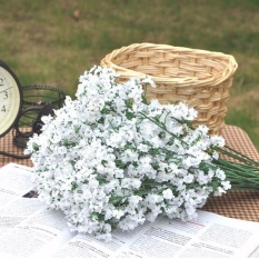 Fake Silk Home Wedding Gypsophila Babys Breath Flower Plant Decals - intl