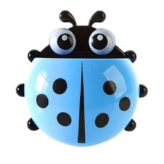 Fancyqube Fashion Cute Ladybug Toothbrush Holder Blue (Intl)