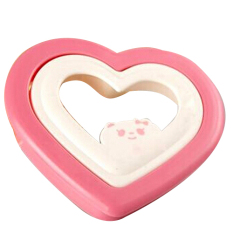 Fang Fang Heart Sandwich Maker Bread Cake Mold Cutter Breakfast DIY Tools (Pink)