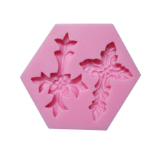 Fang Fang Magic Cross Shape Silicone Fondant Mould Cake Decorating Mold Sugarcraft (Pink)