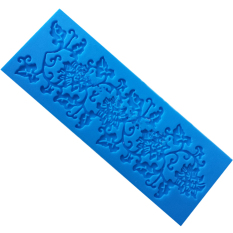 Fang Fang New Flowers Shape Silicone Lace Mold For Fondant Cake Decorating Bakeware Tools (Blue)